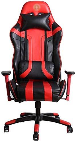 Fåtölj E-Sportsstol Hög rygg Läder Executive Chair Justerbar Arbetsroterande Dator Skrivbord Scrolling Working Gami (stol)