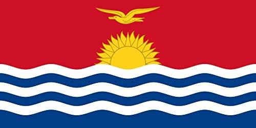 INERRA Flaggen mit 2 Metallösen, 150 x 90 cm, Australasien/Ozeanien, Polyester, Kiribati