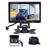 Hikity Backup Camera with Monitor Kit, Waterproof 18 IR LED Night Vision Reverse Camera + 7