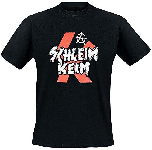 Schleimkeim – Logo rot T-Shirt, schwarz, Grösse XXL