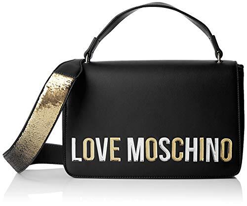 Love Moschino Pu, Borsa a mano Donna, (Nero), 7x18x29 cm (W x H x L)