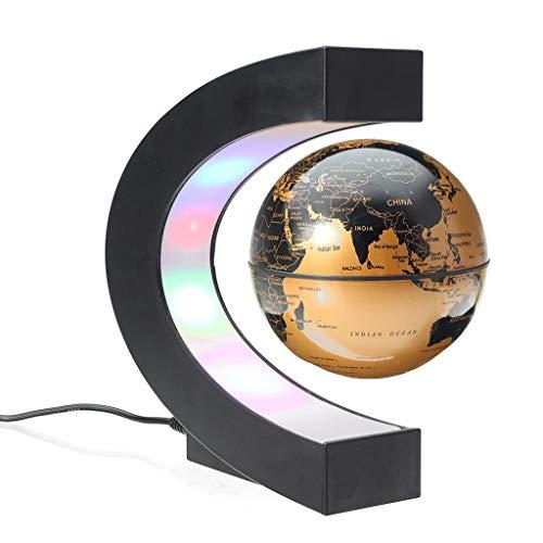 YONGMEI Levitation Anti Schwerkraft Globus Magnetische Schwimm Globus Weltkarte LED-Licht Kinder Home Office Schreibtisch Dekoration (Farbe : B)