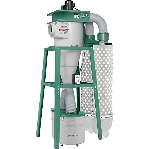 Grizzly Industrial G0637-7-1/2 HP 3-Phase Cyclone Dust Collector