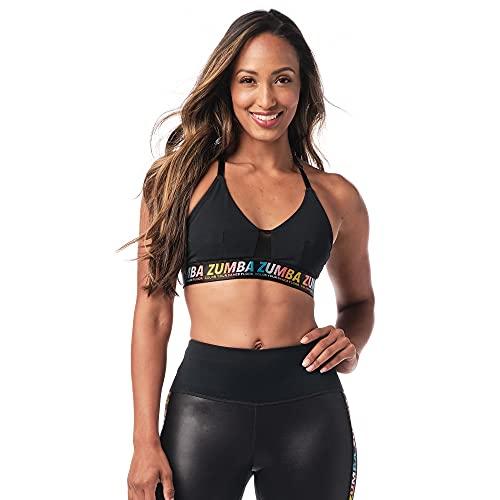 Zumba Bralette Mujer Fitness Workout Sujetador Deportivo Activo Sports Bra, Dance in Black, XL Women's