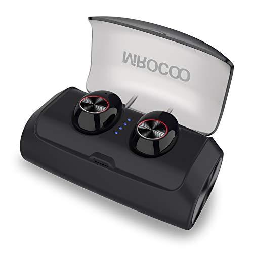 MIROCOO V6 Auriculares Bluetooth 5.0, TWS Mini In Ear Auriculares Bluetooth