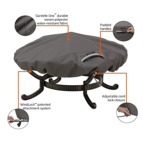 Classic Accessories Ravenna Water-Resistant 44 Inch Round Fire Pit Cover