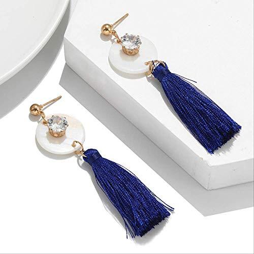Oorbel bengelen oorbel voor vrouwen driekleuren kwastenoorbellen lange ronde geometrische oorbellen cadeau voor vriendez280A-3