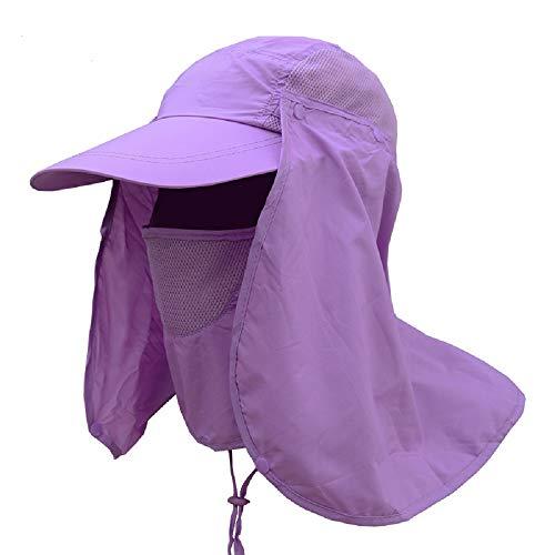 WEKNOWU - Gorra de pesca de secado rápido con cubierta de cuello y solapa para exteriores, protección UV