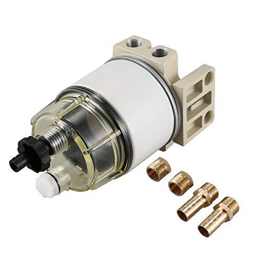 Shumo Motor de Filtro Separador de Agua/Combustible R12T para Racor 140R 120At S3240 Npt Zg1 / 4-19 Filtro Combinado Completo de Piezas Automotrices