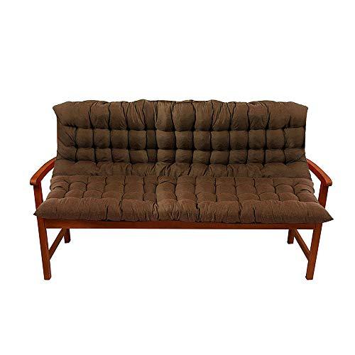 Ali Bench Cushion, Outdoor Bench Pad Antislip Zacht Tuinmeubelkussen met rugleuning voor Patio Tuinbank of Swing 2 Zitplaatsen 100x150cm BRON