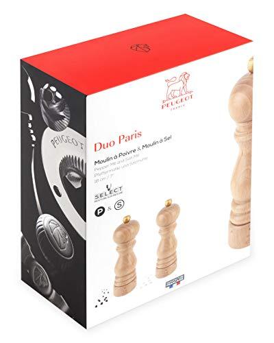 Peugeot Paris U Select Duo Zout en Peper Molen Set 18cm Natuurlijke Beuk