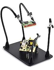 Magnetische helpende hand, soldeerhulpen, 4 PCB-pijlers Printplaathouder met flexibele metalen armen Heavy-duty elektronische basisreparatietool