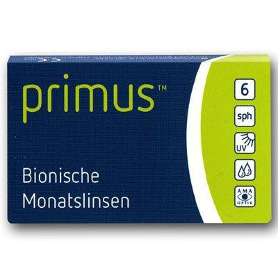 Primus bionische Monatskontaktlinse 6 Stück BS 8.6 mm DIA 14.20 Stärke frei wählbar [ausgewählt: Dioptrien: -5.75]