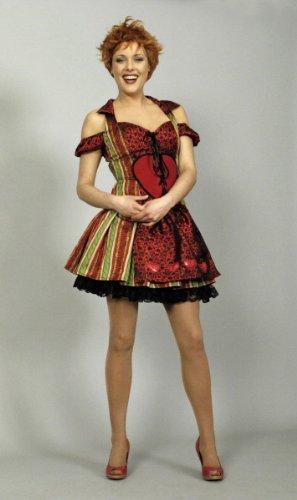 Dirndl Rot/Grün Jaquard Deluxe 40-42 Kleid