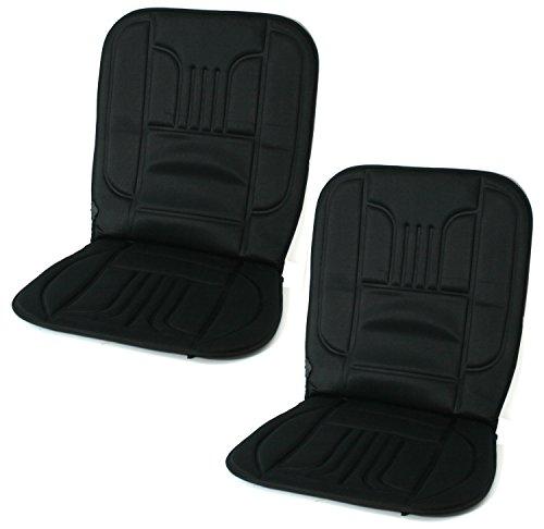 Filmer 2 Stück Sitzheizung beheizbare Sitzauflagen 12V Comfort für PKW KFZ