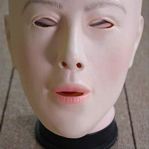 Latex Lady Human Mask,Crossdress Weibliche Maske,Realistische Silikon Party Maske Frauen Cosplay Gesichtsmaske Für Cosplay