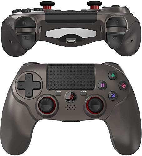 JOYSKY Senza Fili Controller Bluetooth Gamepad con Doppia Vibrazione Ricaricabile Telecomando a 6 Assi Dual Vibration Shock e Presa Audio(Grigio)