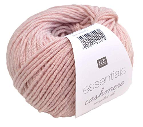 Rico Essentials cashmere Recycled dk, Fb. 008 – puderrosa, 95% Kaschmir 5% Wolle, 25g Knäuel