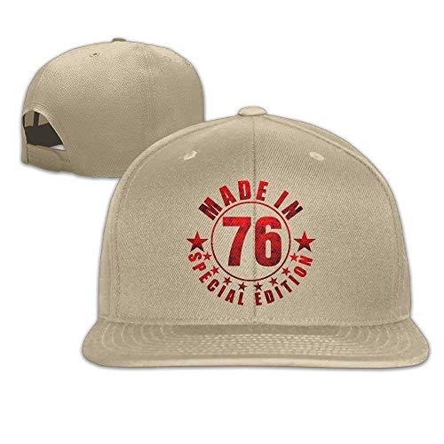 asegybbb Adjustable Snapback Baseball Hat&Cap Made In 76 Natural