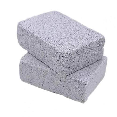 Aisoway 2pcs Reutilizable La Parrilla de Piedra Limpiador Multi usos Inodoro ecológico Limpiador de Piedra pómez para Barbacoa