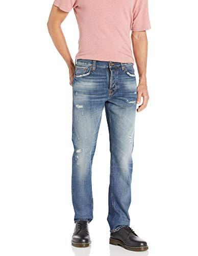 Nudie Jeans Unisex-Erwachsene Steady Eddie Worn Jeans, Ii Original getragen, 34W x 32L