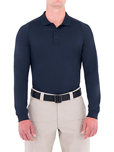 First Tactical Polo Performance à Manches Longues pour Homme Bleu Marine Taille L