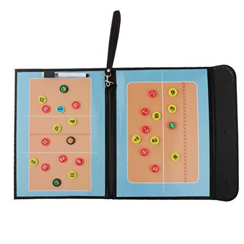 P Prettyia Faltbares Taktiktafel für Volleyball Taktikboard inkl. Stift, Radiergummi, Magnete