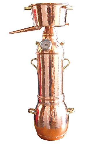 Dr. Richter® Destille 2 Liter Alquitara mit Kolonne für ätherische Öle/Hydrolate (anmeldefrei) 2L