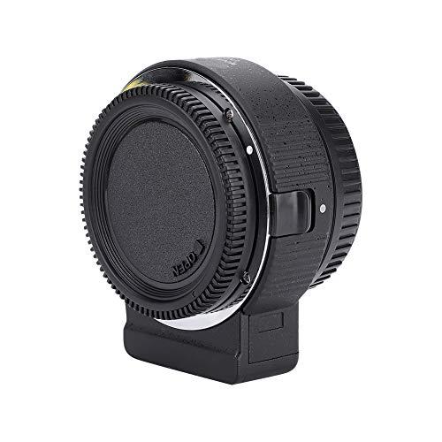 DAUERHAFT Lente Commlite ENF-E1 Pro, Lente de Montura Compatible con Enfoque automático, Adaptador de Montura para Lente Nikon F a Montura E de Sony