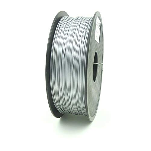 S SIENOC 3D Printer PLA Silk Filament 1.75mm 3D Printer Filament Silver 1KG (PLA Silk Silver)
