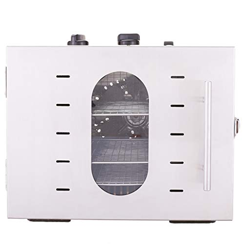 Buy 6 Trays Food Dehydrator with Glass Window,Thermostat 30-90°C, Timer 15 Hours, Dehydrator for Fr...