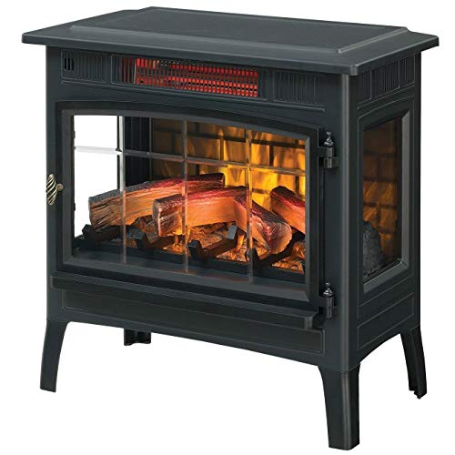 StarSun Depot Black Infrared Quartz Electric Fireplace Stove Heater