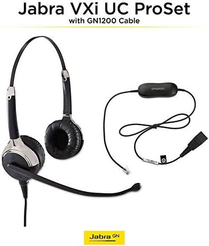 wholesale Jabra high quality VXi UC ProSet Premium QD Overhead Binaural Corded Headset with GN1200 sale SmartCord sale