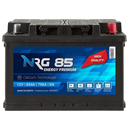 NRG Premium Autobatterie 12V 85AH 790A/EN Batterie ersetzt 74AH 75AH 77AH 80AH 82AH 83AH