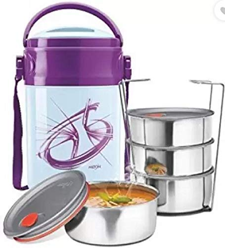 Milton Odyssey 5 Lunch Box in Lunch Boxes for Office/Collage/School Use with Leak Lock 5 Container 5 Containers Lunch Box (1500 ml)