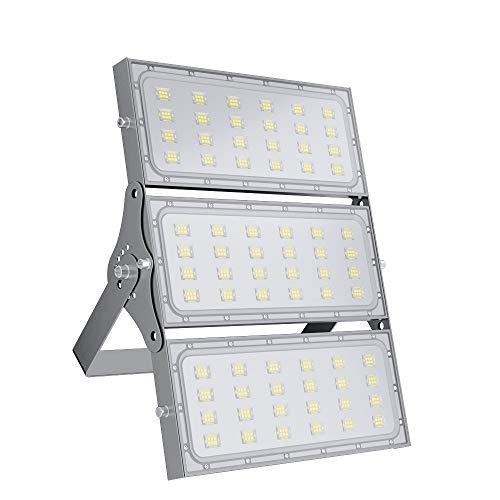 300W LED Strahler Außen, bapro LED Fluter Aussen 30000LM Superhell Aussenstrahler, 6000K Led Scheinwerfer IP65 Wasserdicht mit 180° Rotations, Außenbeleuchtung für Garten, Garage, Hof, Sportplatz