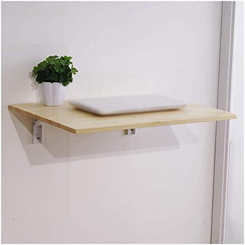 ZJZ plank massief hout vouwen tafel, muur opknoping tafel tegen de muur computer leren kantoor bureau muur tafel vouwen
