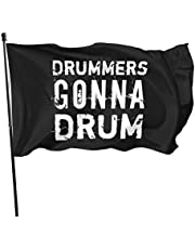 N/D Cadeau voor Drummers Drummen Gonna Drum Vlag Banner Vlaggen 3 5 Ft