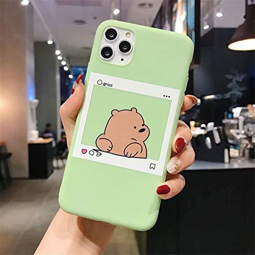 ZYMQ Dibujos Animados Lindo Oso Divertido Panda PANTEL Modelo Funda para teléfono para iPhone 11 Pro MAX X XS MAX XR 6 6S 7 8 Plus SE 2020 Retro,B,iPhone 11Pro MAX