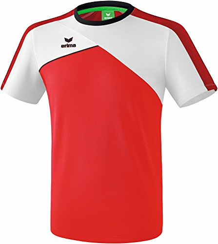 ERIMA Kinder T-shirt Premium One 2.0 T-Shirt, rot/weiß/schwarz, 128, 1081802