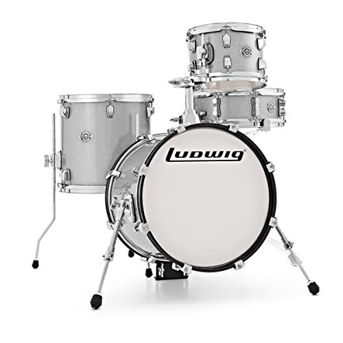Ludwig LC179X028 Breakbeats White Sparkle Drum Kit Shell Pack