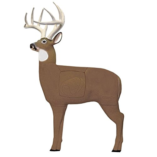 Field Logic GlenDel Pre-Rut Buck 3D Archery Target with Replaceable Insert Core, GlenDel Pre-Rut Buck w/ 4-sided insert, Brown