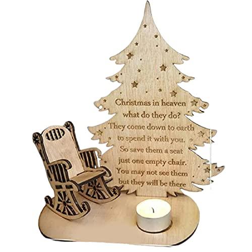 Remembrance di Natale Candela Ornamento Desktop Memorial Tea Holder Holder Salvato Seat Merry Christmas in Heaven Memory Candlestick-default
