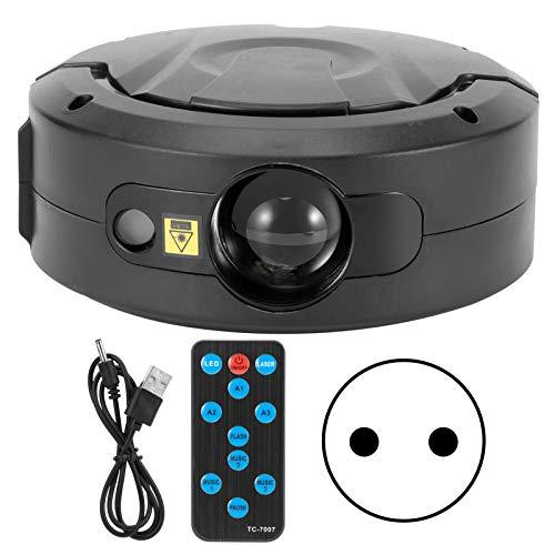 Asixxsix Proyector de luz Nocturna, lámpara de proyección de Estrellas, música Bluetooth con Soporte Colorido para Fiestas(European regulations)