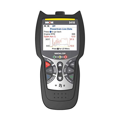 INNOVA CarScan Pro 5410 Code Scanner - Professional OBD2 Code Reader - Smog Test Scan Tool - Network Scan & Battery Initialization - RepairSolutions2 App