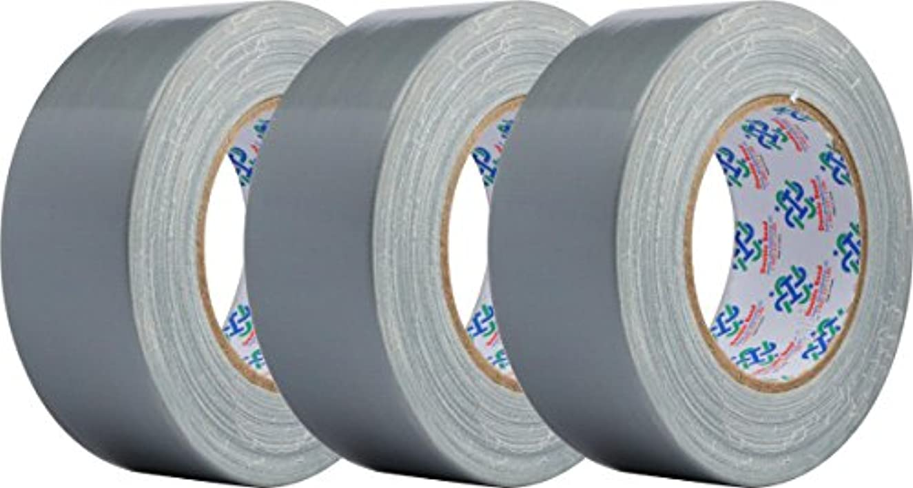 """Double Bond Real Thick (11 Mil) Duct Tape Multi Pack Heavy Duty Duct Tape Roll 1.88"""" x 35 yds, Silver, 3 Rolls"""