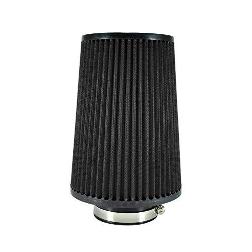 Universal - Filtro de Aire Deportivo (240 mm/76 mm), Color Negro
