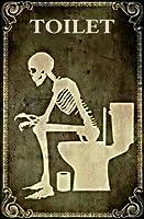 ゴシック人の骨組み、トイレ/浴室の金属製の標識