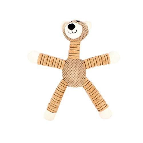 mi ji Toy Massaggiagengive Pet Squeaky Peluche Orso Bruno Cucciolo da Masticare Giocattolo con Il Suono Cane Ripiene Squeaker Giocattolo