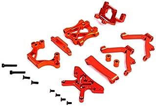 Hockus Accessories Rovan Alloy Front Head Set Shock Tower Arm Set 5B HPI KM 85051 - (Color: Orange)